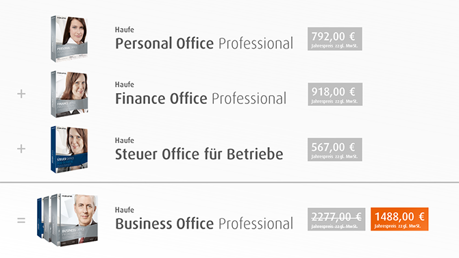 Haufe Business Office Professional - Inhalte & Preisvorteil